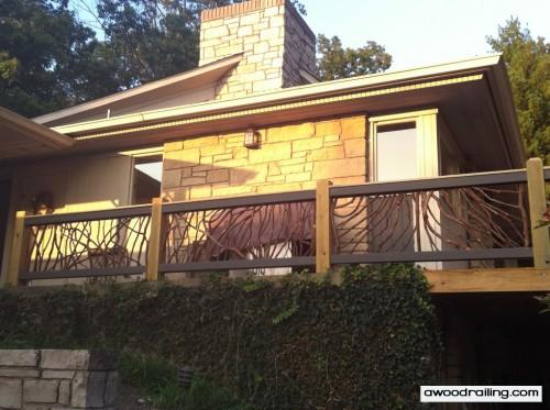 Rustic Deck Handrail