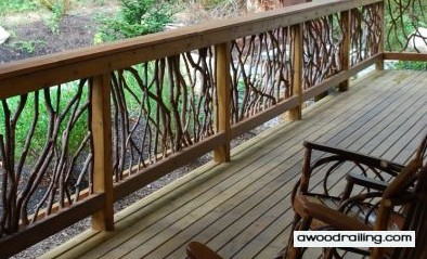 Mountain Laurel Handrails are Unique Works of Art for your Home