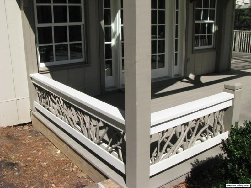 Painted Branch Deck Railing