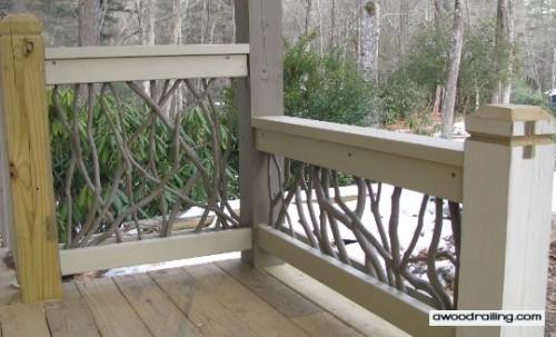 wood exterior railings