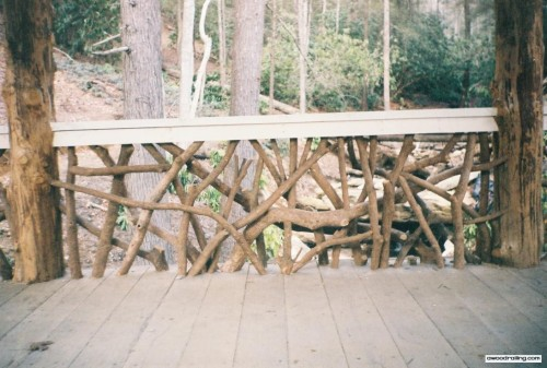 Bridge Log Railing