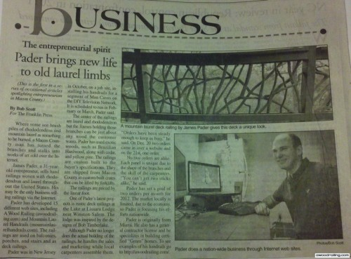 Wood Railing Entrepreneur
