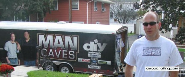Discovery Channel Man Cave Show : Man caves features mountain laurel handrail for exterior