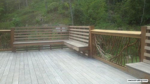 Built in Bench and  Deck Balusters