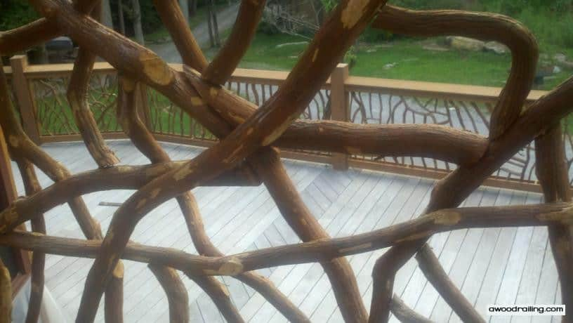 Deck Railing Picture through Branches