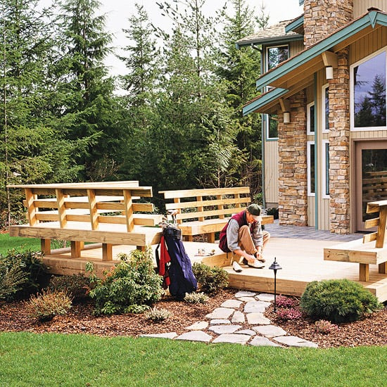 Deck Bench Seating: Deck Railing Benches - Deck Railing