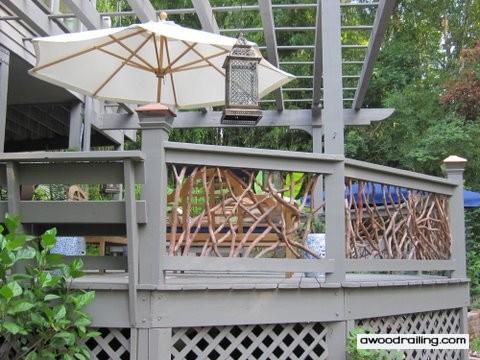 Gray Deck Railing