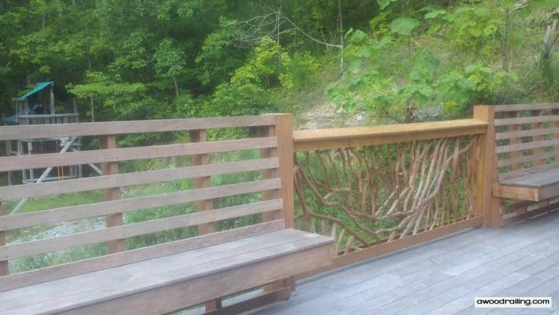 Picture of Deck Railing Bench