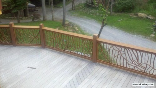 Picture of Deck Railing from Balcony