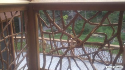 Wood Deck Railing Picture