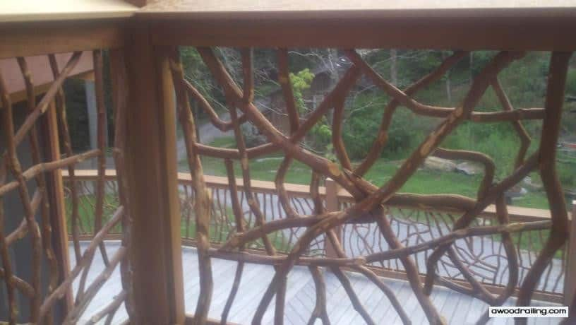 Wood Deck Railing Picture