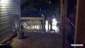 Porch Railing at Night