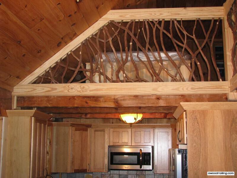Rustic Wood Railing