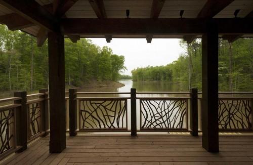 wood deck railing idea