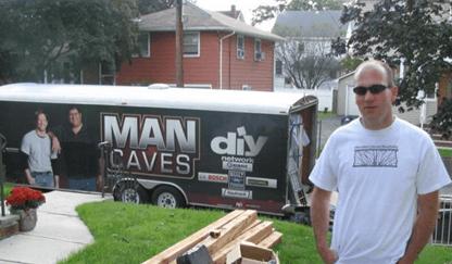 Wood Railing Man Cave