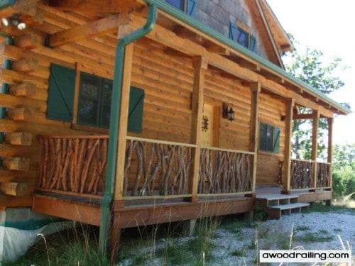 Log Cabin Handrail