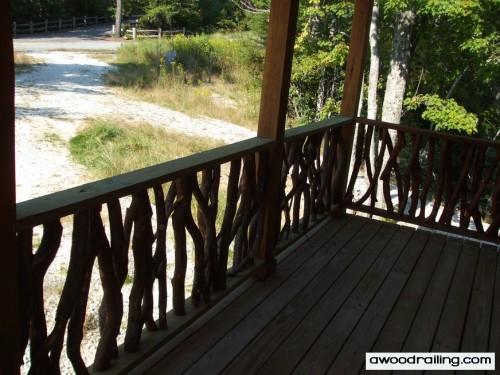 Log Cabin Wood Railing