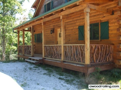 Log Home Deck Railing