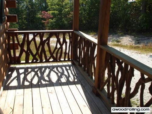 Log Home Railing Design