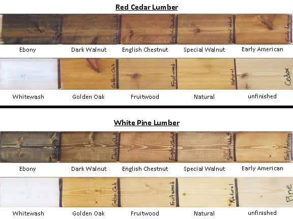 Cedar Wood Stain Colors