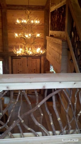 Antler Chandelier and Railing
