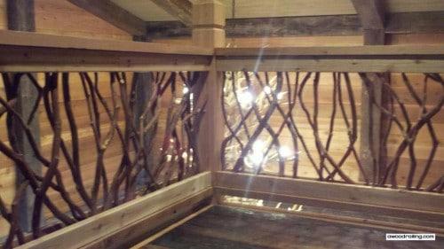 Lighted Wood Railing