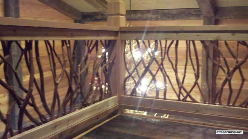 Lighted Wood Railing