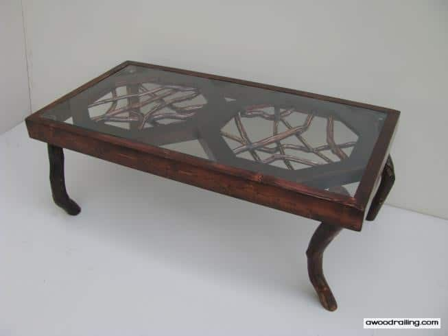Dark Stained Mountain Laurel Coffee Table