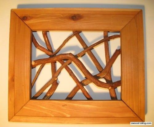 Framed Branch Railings