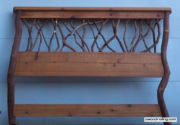 Rustic Branch Headboard