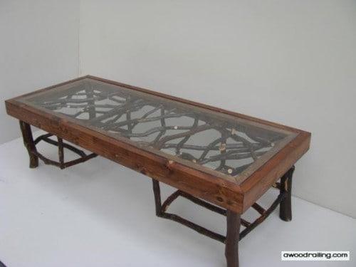 Rustic Square Mountain Laurel Furniture Table