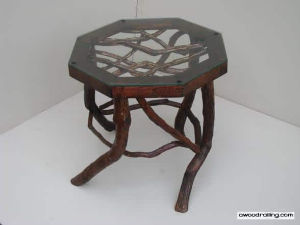 Octagon Rustic Mountain Laurel Branch Table