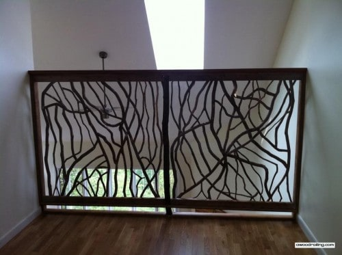 tall railing screen