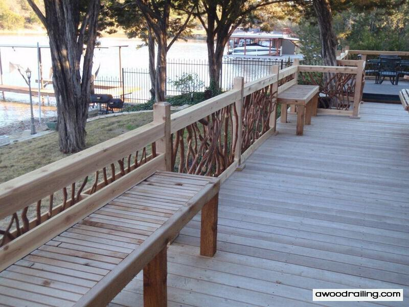 Porch Handrail with Bench