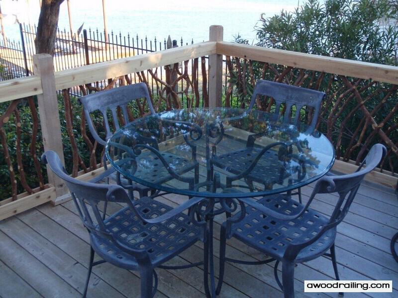 Deck Furniture and Railing