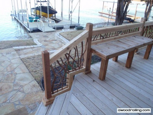 deck stairs railing