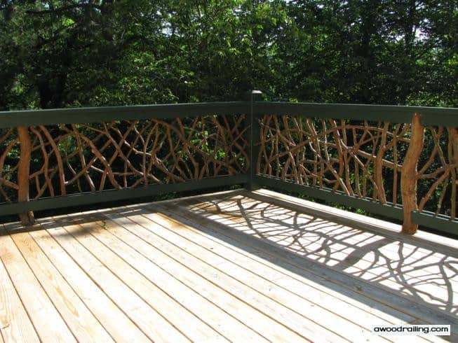 Mountain Laurel Deck Railing Installed On A Deck In North