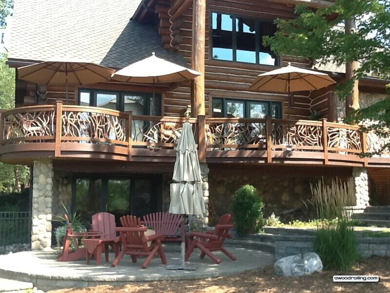 Log Home Deck Railing