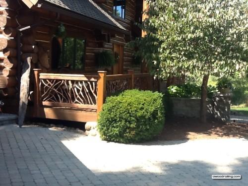 Log Home Porch Railing