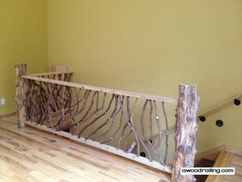 Rustic Interior Railing