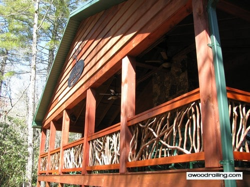 Highlands NC Cabin Handrails