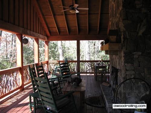 Rustic Porch Railing