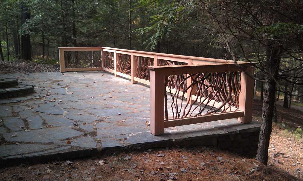 Upstate new york deck railing installed on rebuilt for Deck railing materials