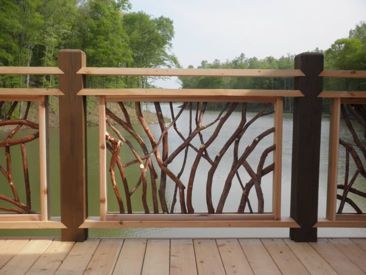 Deck railings for lissara lodge north carolina triad for Balcony handrail