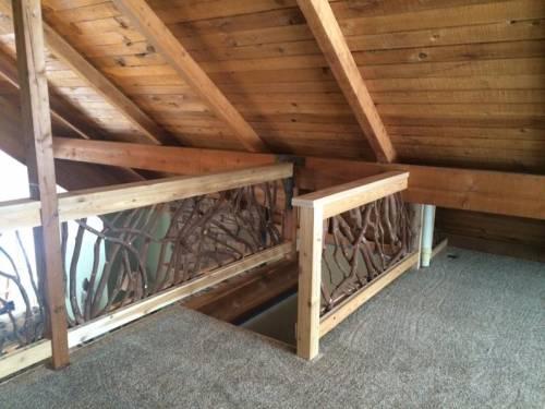 Interior Wood Balcony Railing