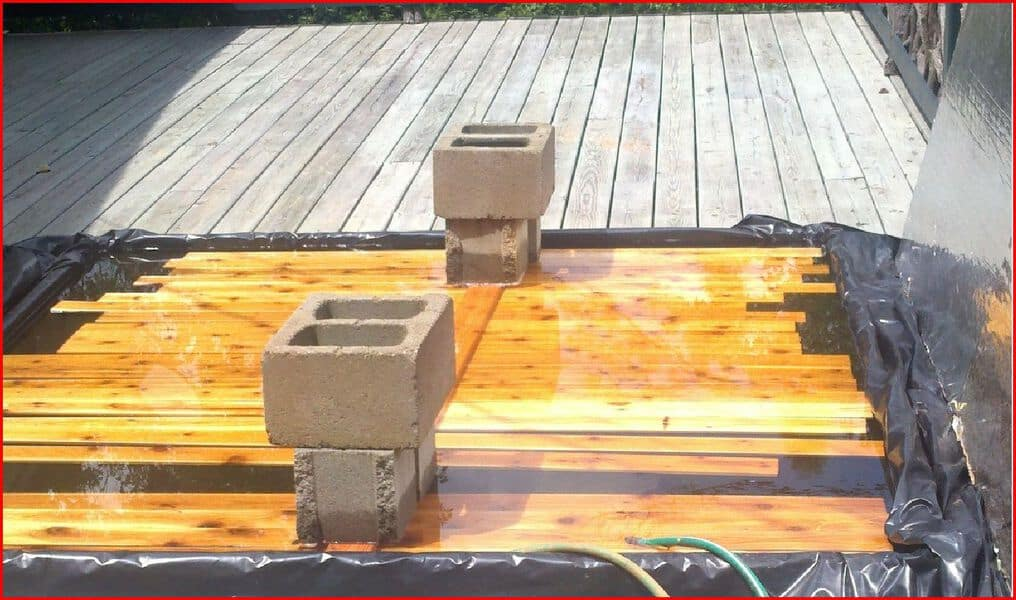 Soaking Pool for Lumber