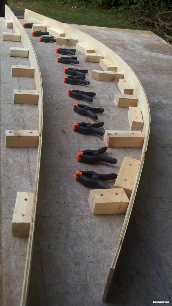 Jig Curved Railing System Deck Railing Mountain Laurel