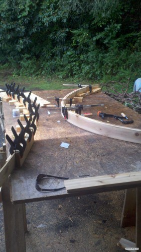 Final Jigs for Curved Railing