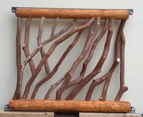 Cedar Log Railing