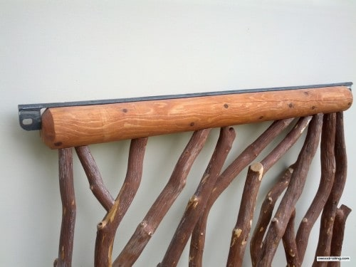 Log Railing with Metal Attachment Points